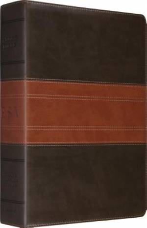 ESV Study Bible (TruTone, Forest/Tan, Trail Design