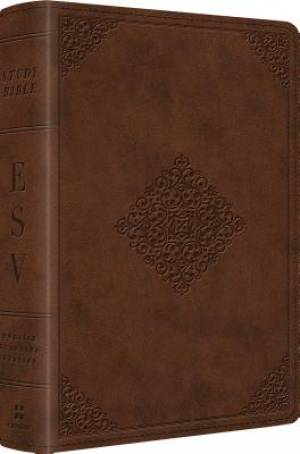 Esv Study Bible Per Sz Lthlk Saddle Orna