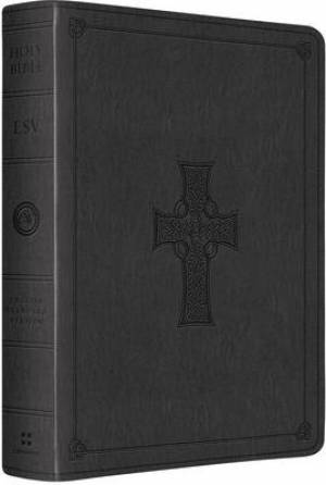 Esv Lp Lthlk Charcoal Celtic Cross Desig