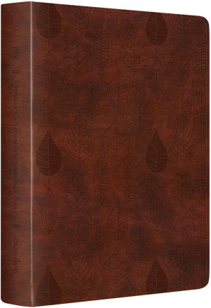 ESV Single Column Journaling Bible: Chestnut, LeatherLike