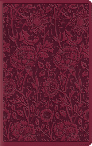 ESV Large Print Compact Bible (TruTone, Berry, Floral Design)