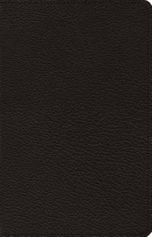 ESV Omega Thinline Reference Bible (Goatskin, Black)