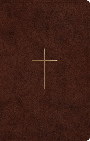 ESV UltraThin Bible (TruTone, Brown, Cross Design)