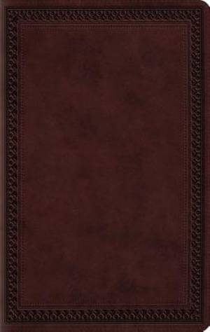 ESV Large Print Value Thinline Bible (TruTone, Mahogany, Border Design)
