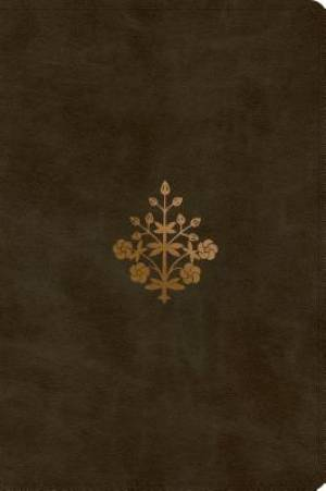 ESV Large Print Bible (TruTone, Olive, Branch Design)