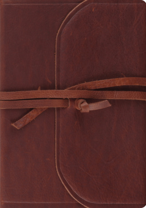 ESV Journaling Bible, Interleaved Edition (Brown, Flap with Strap)