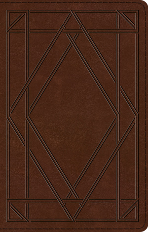 ESV UltraThin Bible (TruTone, Chestnut, Wood Panel Design)