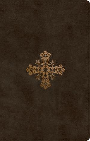 ESV UltraThin Bible (TruTone, Olive, Floral Cross Design)
