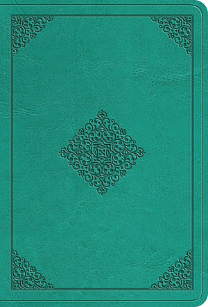 ESV Value Large Print Compact Bible (TruTone, Teal, Ornament