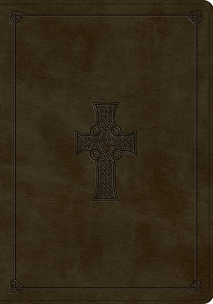 ESV Study Bible (TruTone, Olive, Celtic Cross Design)