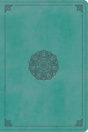 ESV Study Bible, Personal Size (TruTone, Turquoise, Emblem D
