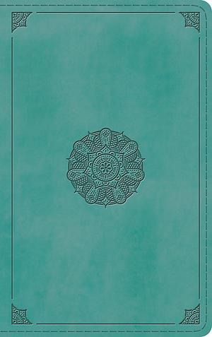 ESV Thinline Bible (TruTone, Turquoise, Emblem Design)
