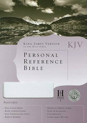 KJV Personal Reference Bible White Bonded Leather