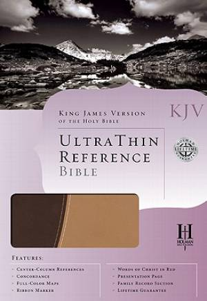 Kjv Ultra Thin Ref Bible Brn Tan Duotone