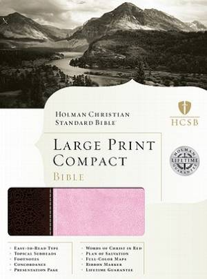 Hcsb Lp Compact Bible Brn Pink Duo Tone