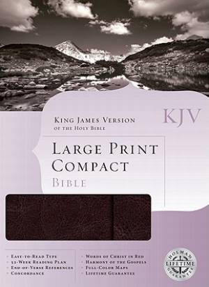 KJV Larger Print Compact Bible Imitation Leather Brown