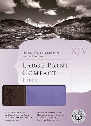 KJV Large Print Compact Bible Imitation Leather Purple - Brown