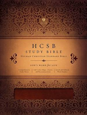 Holman HCSB Study Bible Imitation Leather Mahogany Brown