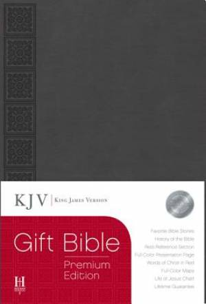 KJV Gift Bible: Grey, Simulated Leather, Premium Edition