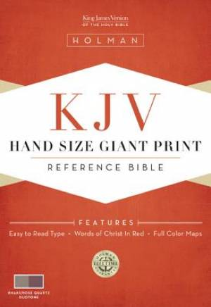 KJV Hand Size Giant Print Bible Khaki/rose Quartz Simulated Leather