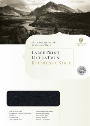 HCSB Large Print Ultrathin Bible Legacy Edition Black