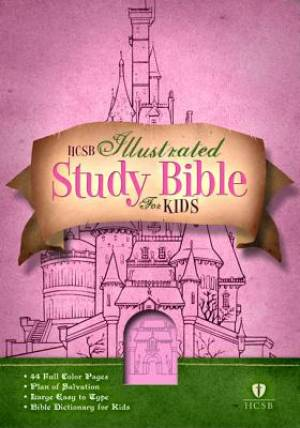 HCSB Illustrated Study Bible For Kids: Pink, Imitation Leather
