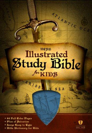 HCSB Illustrated Study Bible For Kids: Blue, Imitation Leather