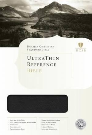 HCSB Ultrathin Reference Bible - Mantova Black Simulated Leather