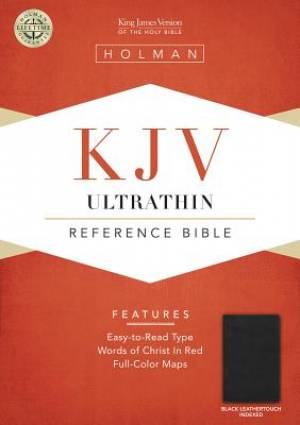 Kjv Ultrathin Ref Blk Lth Lk Index