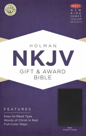 NKJV Gift and Award Black Imitation Leather