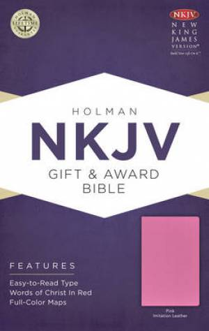 NKJV Bible Gift Award Imitation Leather Pink