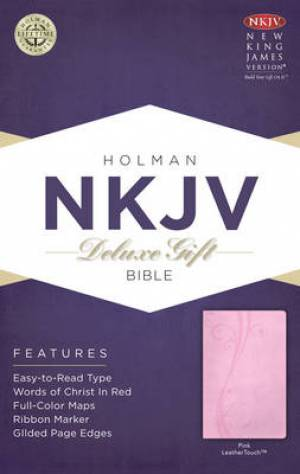 NKJV Deluxe Gift Bible Imitation Leather Pink