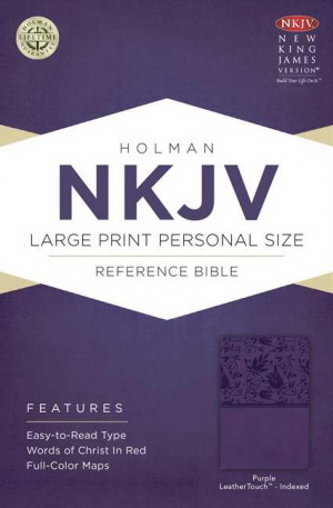 Nkjv Large Print Personal Size Reference Bible, Purple Leathertouch In