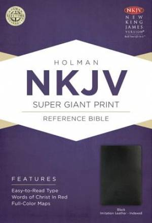 Nkjv Super Giant Print Reference Bible, Black Imitation Leather Indexe