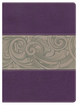 Nkjv Study Bible, Eggplant/tan Leathertouch Indexed