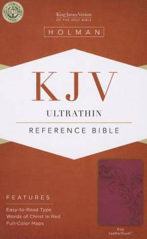 Kjv Ultrathin Reference Bible, Pinkleathertouch