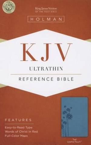 Kjv Ultrathin Reference Bible, Tealleathertouch