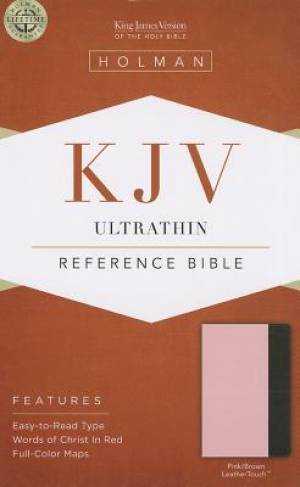 Kjv Ultrathin Reference Bible, Pink/brown Leathertouch