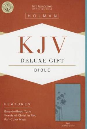 KJV Deluxe Gift Bible Teal Imitation Leather