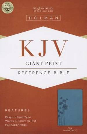 KJV Giant Print Reference Bible Teal Imitation Leather