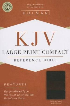 Kjv Large Print Compact Bible, Saddle Brown Leathertouch