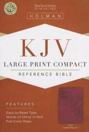 Kjv Large Print Compact Bible, Pinkleathertouch