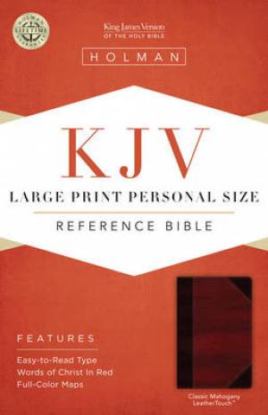 Kjv Large Print Personal Size Bible, Classic Mahogany Leathertouch