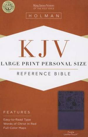 KJV Large Print Personal Size Bible, Purple Imitation Leather