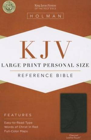 Kjv Large Print Personal Size Bible, Charcoal Leathertouch