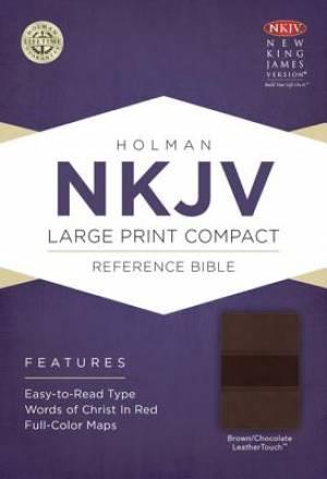 NKJV Compact Reference Bible Brown Imitation Leather