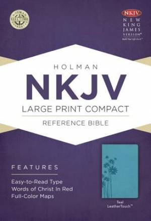 NKJV Compact Reference Bible, Teal Leathertouch