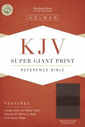 Kjv Super Giant Print Reference Bible, Brown/Chocolate Leath
