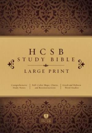 HCSB Large Print Study Bible, Hardcover