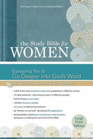 HCSB Study Bible For Women: Large Print Edition, Printed, Th